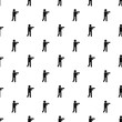 Stick figure stickman pattern vector seamless repeating for any web design