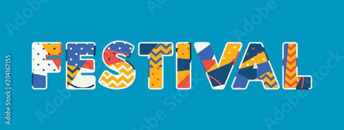 Fotografia, Obraz  Festival Concept Word Art Illustration