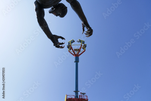 Poster Amusementspark Luna park