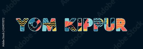 Fotografia Yom Kippur Concept Word Art Illustration