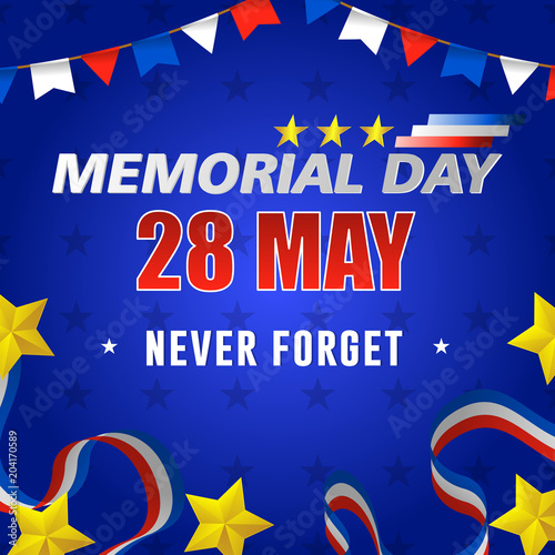 Fotografie, Obraz  Happy usa memorial day, 28 of may
