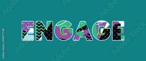Photo Engage Concept Word Art Illustration