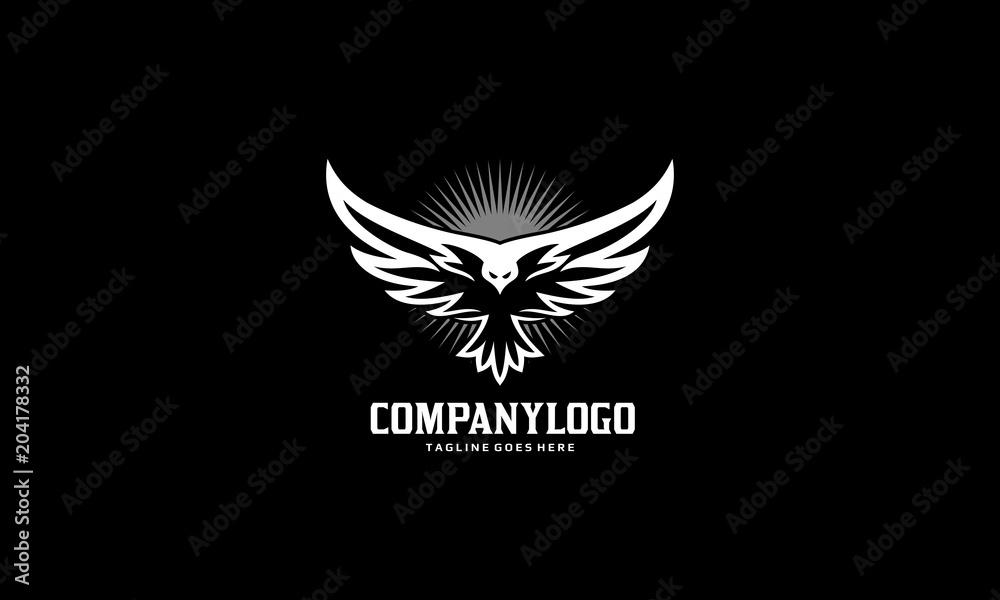 Photo  Bird Fly Logo - Eagle Wing Vector