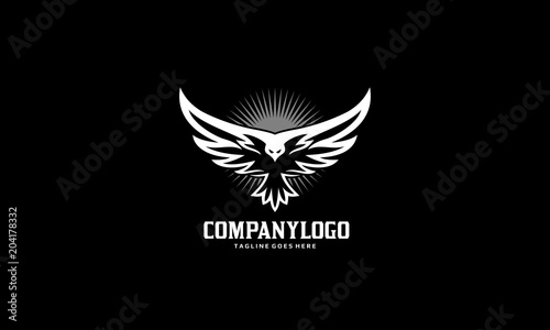 Bird Fly Logo - Eagle Wing Vector Tablou Canvas