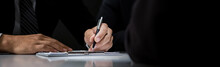 Businessman Signing Contract A...