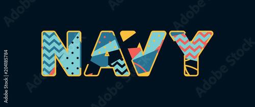 Photo Navy Concept Word Art Illustration