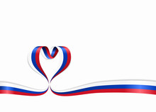 Russian Flag Heart-shaped Ribb...