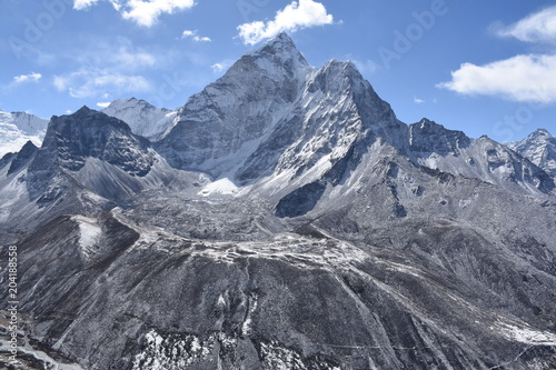 Ama Dablam Base photographed from Nangkartshang, Nepal плакат