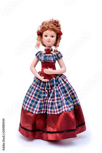 Fototapeta Porcelain doll in vintage dress