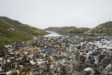 Garbage Dump At The Sea, Paamiut, West Greenland, Greenland, North America