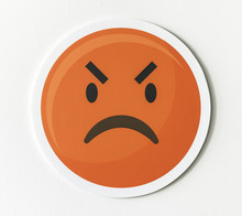 Emoticon Emoji Angry Face Icon
