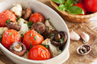 Grilled vegetables in ceramic bowl
