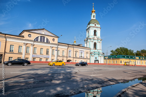 Foto op Aluminium Aziatische Plekken Beautiful city summer landscape, the capital of Russia Moscow, the historic city center, old buildings and the church