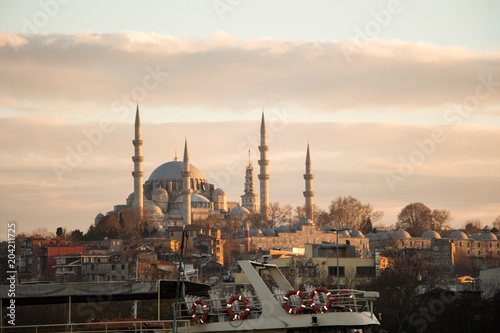 Canvas Prints Turkey Outer view of mosque in Ottoman architecture