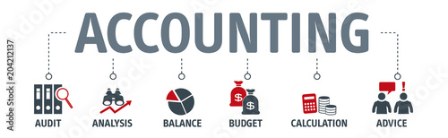 Photo Banner accounting concept