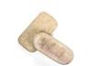 Stone Scrub or polished stone isolated on white background
