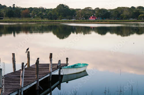 Wooden pier in a lake