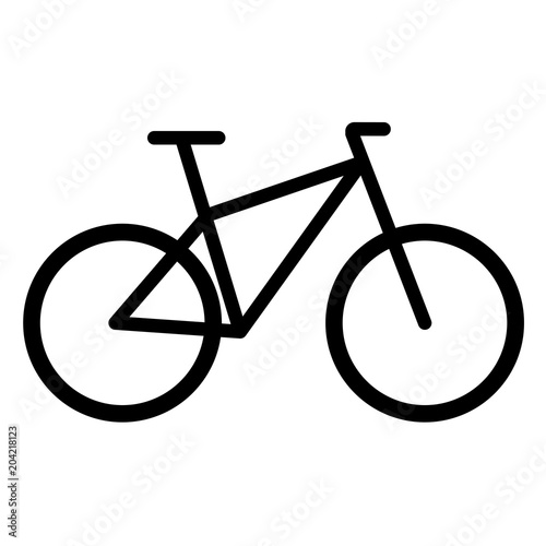 Bike icon vector Fototapete