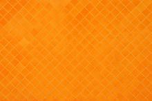 Orange Mosaic Texture And Background.