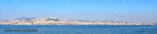 In de dag Napels Naples skyline, Italy