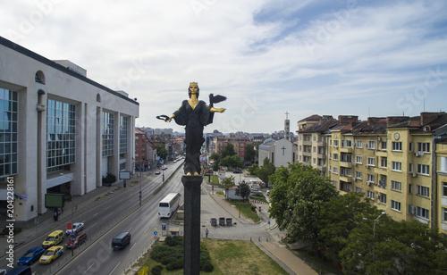 Foto op Canvas Historisch mon. Aerial view of S|t. Sofia monument, Sofia, Bulgaria