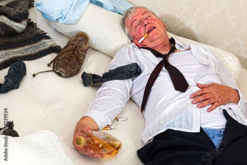 Fotografie, Obraz  Drinking in bed