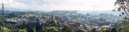 Foto op Canvas Zuid-Amerika land Vue panoramique sur Salento, Colombie