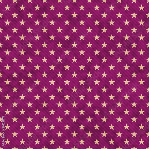 Cotton fabric Purple and beige stars seamless pattern background