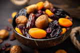 A mix of dried fruit