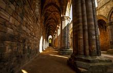 Ruin Medieval Kirkstall Abbey...
