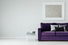 Silver And Purple Living Room