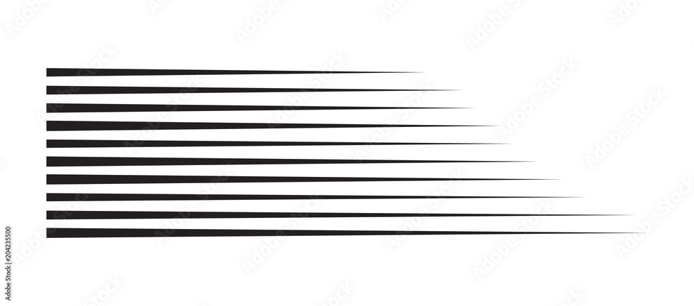 Fototapety, obrazy: horizontal motion speed lines for comic book
