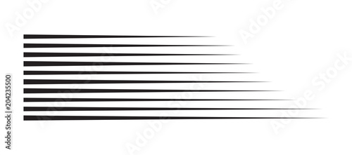 Photo horizontal motion speed lines for comic book