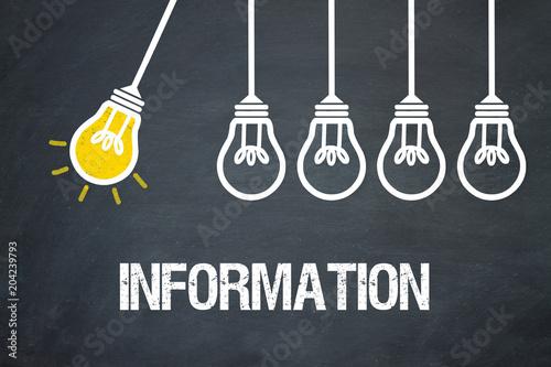 Fototapeta Information / Lampen / Konzept obraz