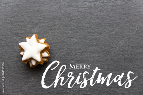 Fotografering  Christmas cookie background