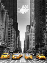 Rangée De Taxis à New-York