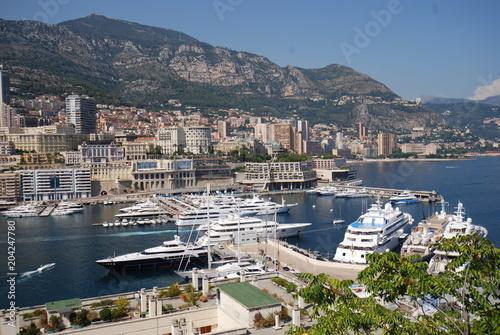 Spoed Foto op Canvas Oceanië Monte-Carlo; Port de Fontvieille; marina; harbor; city; sea