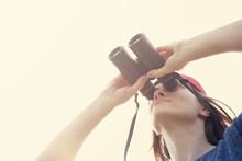 Girl With The Binoculars  Agai...