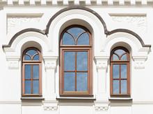 Windows Of Old Building (Trinity Church In Kyiv Pechersk Lavra,19th Century, Ukraine)