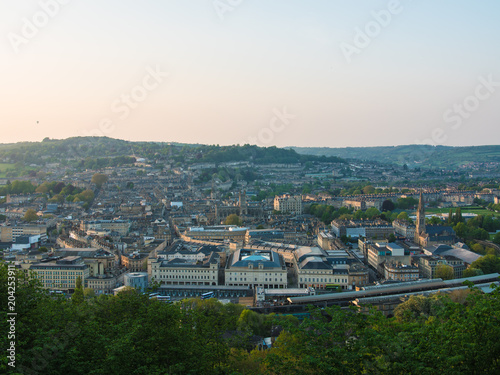 Deurstickers Toscane Bath, Somerset (UK) Aerial View of City