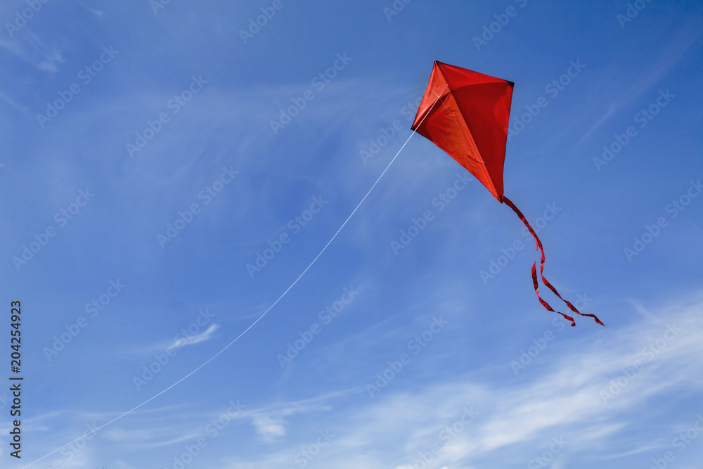 Fototapety, obrazy:  A red kite in the sky