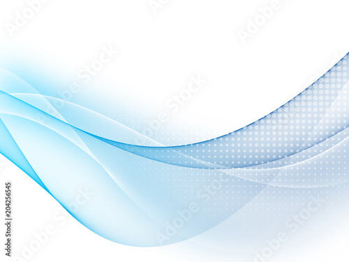 Soft blue abstract business graphic wave background