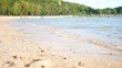 Sand beach with sea wave select focus shallow depth of field with summer atmosphere