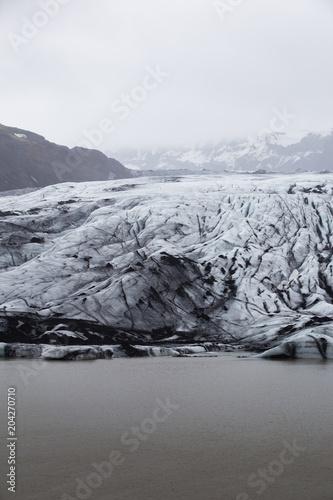 Foto op Canvas Grijs Solheimerjökull, Iceland