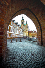 FototapetaColorful medieval buildings at the iconic old town of Warsaw, Poland.