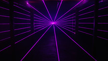 Thin Purple Laser Beams Shine ...