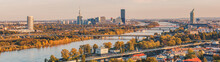 Panoramic View Over The Danube...