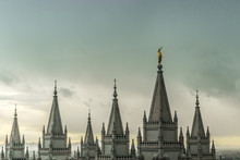 The Angel Moroni And Spires Of...