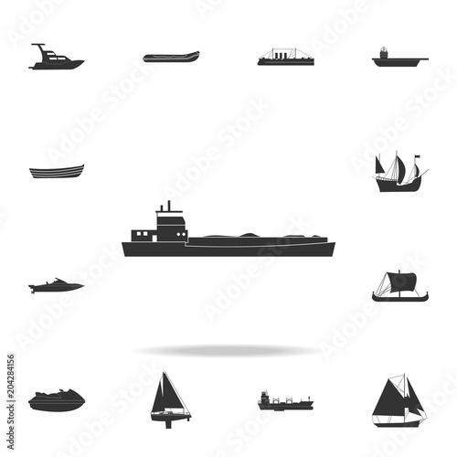Fotografering barge ship icon