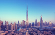 canvas print picture - Dubai skyline, United Arab Emirates